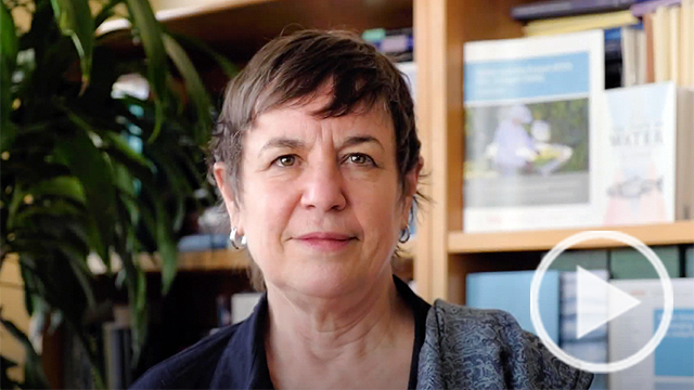 Image of Ellen Hanak opening video for Building a Water Resilient California event